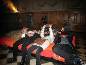 Le lit rouge de la Chapelle...