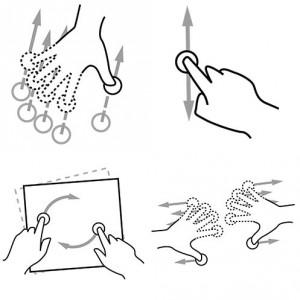 Les gestuelles mobiles Crédits : GestureWorks