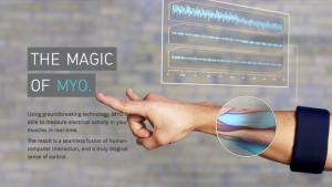 Myo, un capteur de mouvement musculaire
