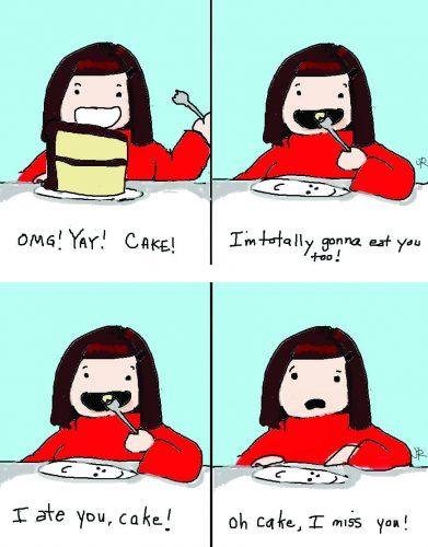 """""""You can't have your cake and eat it too"""" est un proverbe idiomatique anglais illustrant bien le fait qu'il est impossible qu'un livre plaise aux débutants et aux professionnels en même temps... Source : http://cheeseblarg.blogspot.fr/2011/01/cake-is-lie.html"""